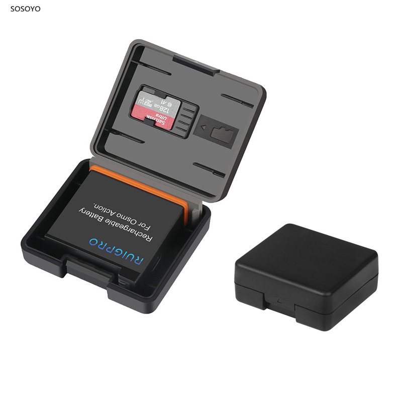 2pcs Battery Case Battery TF card Storage Box Moisture-proof box For DJI Osmo Action Sports Camera Accessories
