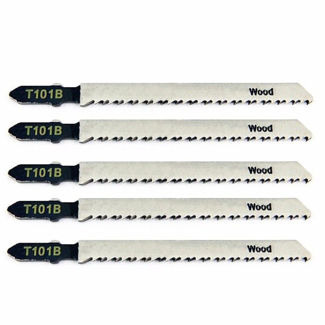5Pcs 100mm T101B Jigsaw Blade Wood Cutting Softwood & Hardwood For Bosch T-Shank Jig Saw Blades