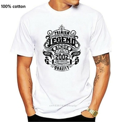 Premium Legend Since 2002 18th Birthday Mens Funny T-Shirt 18 Year Old Top Gift