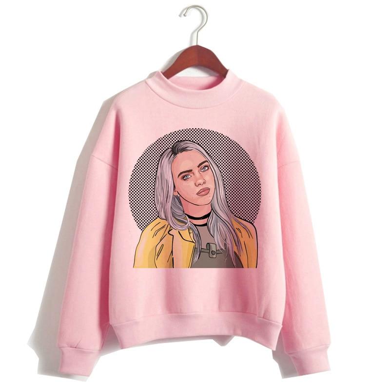 Billie eilish 2019 hoodie roupas femininas moletom