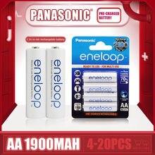Flambant neuf Panasonic Eneloop 1900mAh AA 1.2V NI-MH Batteries rechargeables pour jouets électriques lampe de poche caméra batterie pré-chargée