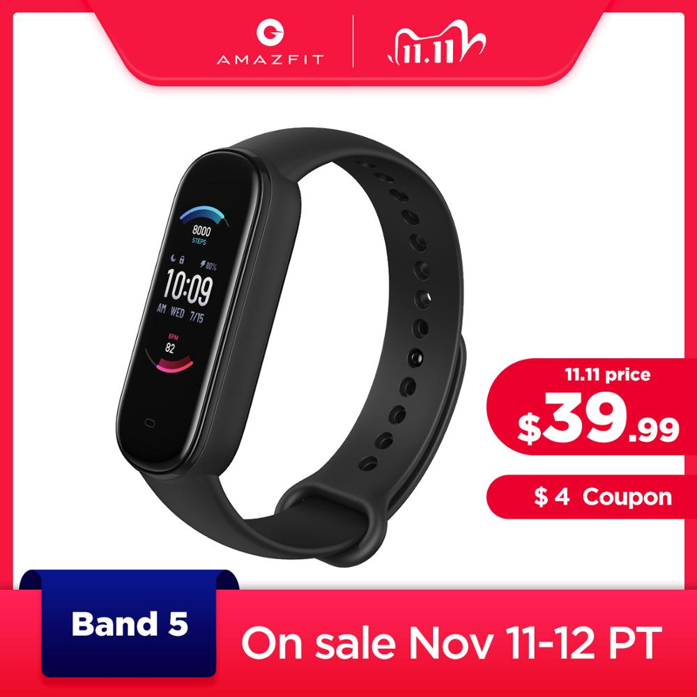 2020 New Amazfit Band 5 Smart Bracelet Color Display Heart Rate Fitness Tracker Waterproof Bluetooth 5.0 Sport Smart Wristband|Smart Wristbands| - AliExpress