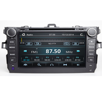 New 2 din best TDA7851 car dvd for Toyota Corolla 2007 2008 2009 2010 2011 8'' GPS stereo radio touch screen camera maps