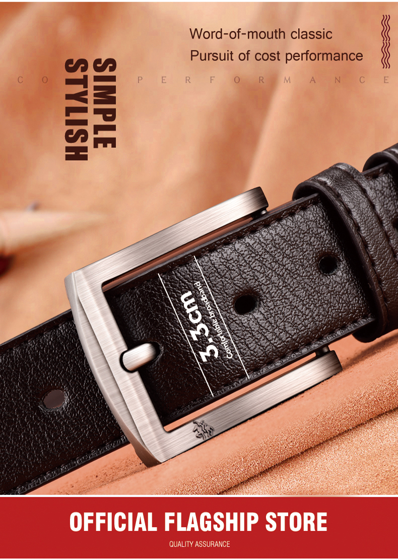 H93af976521e64bdcae1408507dc50daaY - NO.ONEPAUL cow genuine leather luxury strap male belts for men new fashion classice vintage pin buckle men belt High Quality