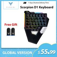 Flydigi Scorpion механическая клавиатура с одной рукой PUBG, Мобильный Bluetooth для телефонов iOS/Android, iPad, планшет, выделенный
