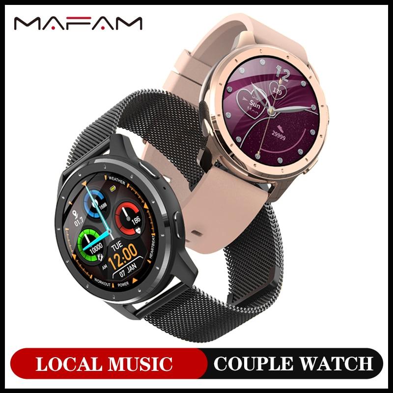 Мужские Смарт-часы MAFAM MX11 2020, женские MP3 Смарт-часы с наушниками, Bluetooth звонком, музыкой для xiaomi Huawei PK Watch GT 2
