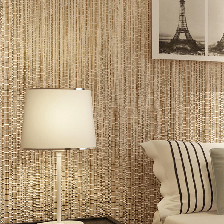 Modern Minimalist Faux Straw Wallpaper Nonwoven Fabric Bedroom Restaurant Hotel Walkway CHILDREN'S Room Living Room Wall Wallpap