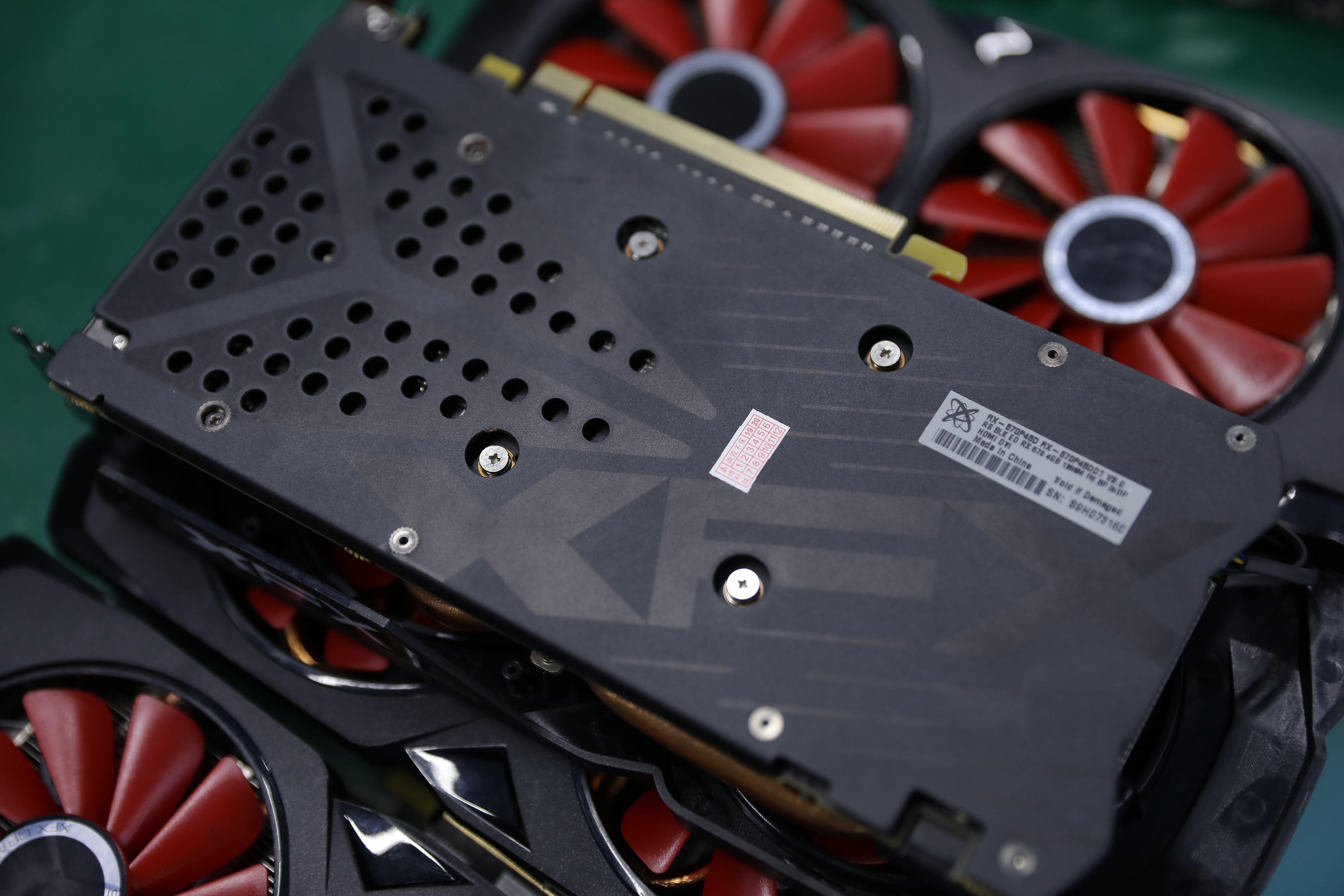 Бывшая в употреблении видеокарта xfx 570 4g 256bit GDDR5 для настольного ПК xfx видеокарта bradeon совместимая с X79 системная плата amd rx 570 карта-2