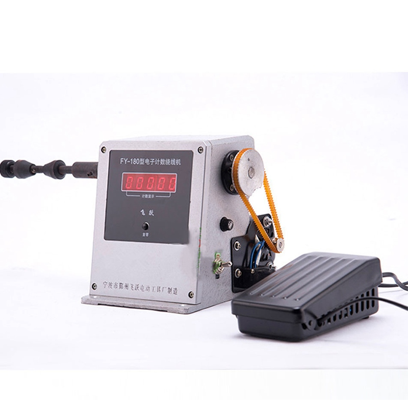 FY180 Electric Winding Machine Electronic Computer Programming Digital Display Small Hand Cable Machine Motor Electric Tools Set