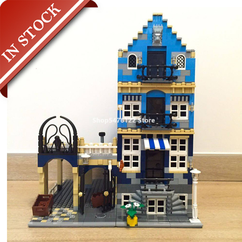 Street View Market Street 10190 15007 In Stock Building Blocks 1200+Pcs Creator Expert Bricks Construction Out Of Print