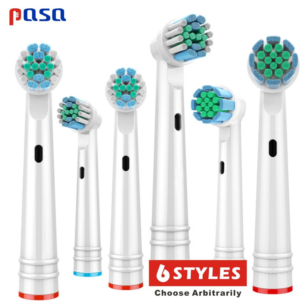 4/6pcs Replacement Brush Heads For Oral B Electric Toothbrush Advance Power/Pro Health/Triumph/3D Excel/Vitality Precision Clean image