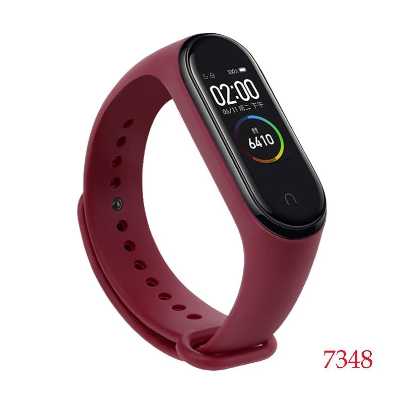 Для Xiaomi Mi Band 4/3 ремешок Металлическая пряжка силиконовый браслет аксессуары miband 3 браслет Miband 4 ремешок для часов М - Цвет: 7348