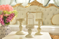French Versailles European style retro old lace cage candle Taiwan wedding home decoration