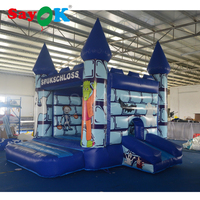 Inflatable Trampoline Halloween Inflatable Castle Bouncer Inflatable Bouncer Slide with Blower For Home/Playground/Rental