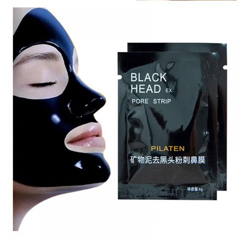 2020 New 5pc Remove Mineral Mud Blackhead Pore Cleansing Mask Cleaner Removal Nose Membranes Black Mask Mascara Facial Face Mask