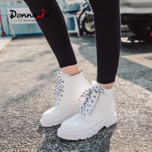 Boot Female Fashion Shoes Thick Heel Ankle Martin Winter Genuine-Leather Cool Donna-In