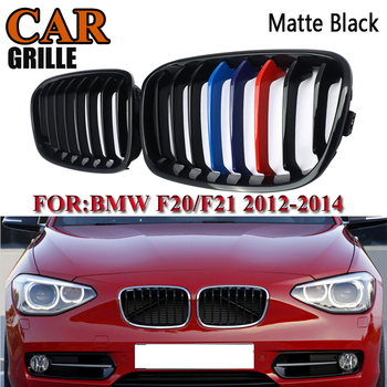 For BMW F20 F21 1-SERIES 2011 Decoration Car accessries replacement Car M-Color Matte Black Kidney Grille Grill