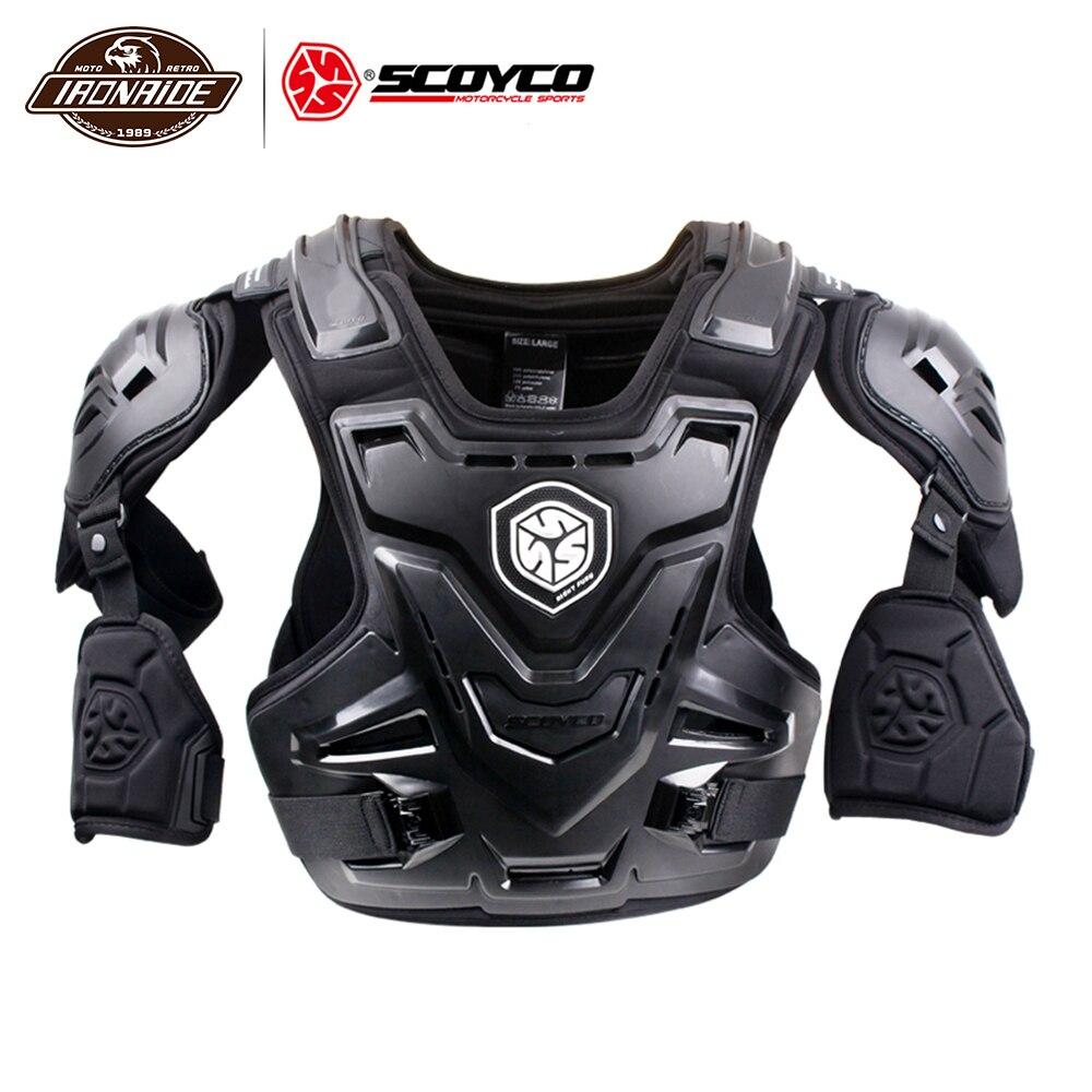 SCOYCO CE moto armure poitrine/coude/épaule/taille protecteur armure Gear moto gilet équipement de sécurité poitrine arrière garde