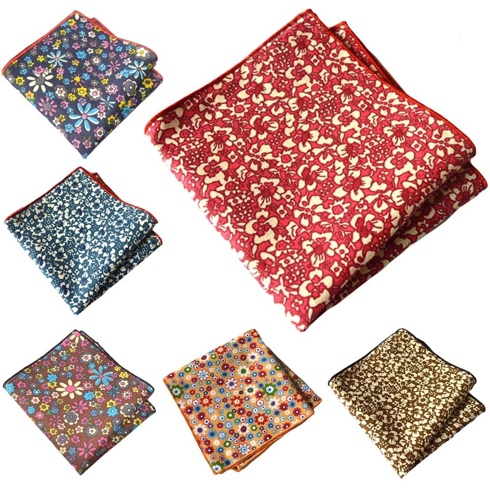 Men Flower Floral Printed Pocket Square Wedding Formal Handkerchief Hanky YXTIE0309