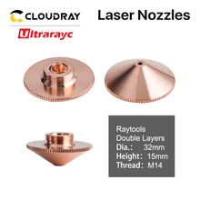 Ultrarayc Raytools Cutting Head Laser Nozzle Single Double Chrome-plated Layers D32 Caliber 0.8-6.0mm