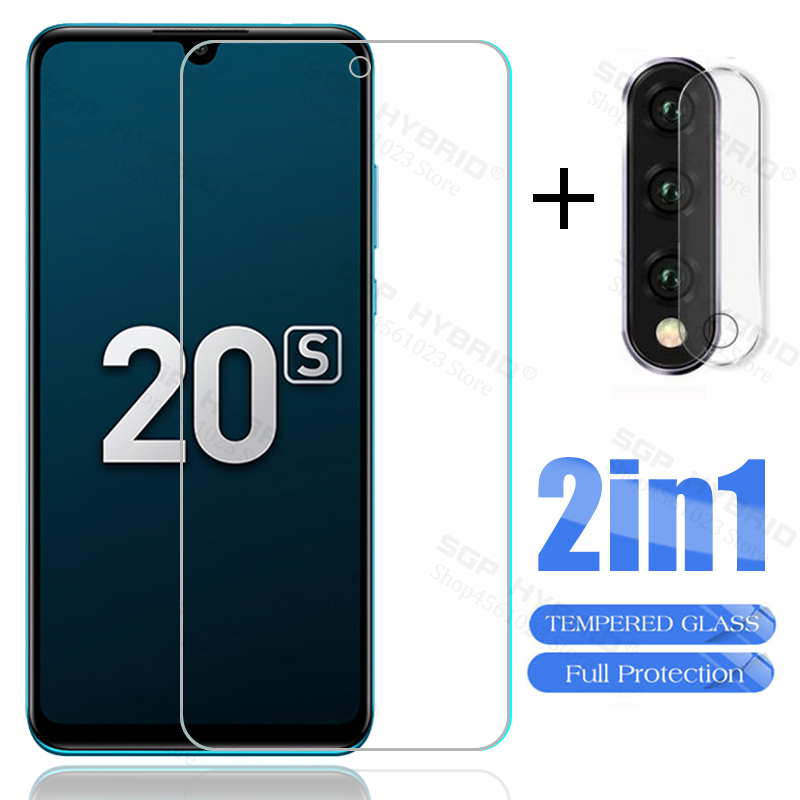 2 In 1 Camera Tempered Glass For Huawei Honor 20s 20 S 20 Pro 20 Lite 9H Full Cover Screen Protective Glass Film For Honor 20 S