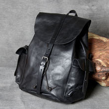Роскошный рюкзак из натуральной кожи для мужчин и женщин повседневный
