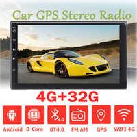 Radio Multimedia con GPS para coche, Radio con reproductor, Android 9,0, 7 pulgadas, 2 DIN, estéreo, 4 + 32 GB, MP5, pantalla táctil de 8 núcleos, 4G, WIFI, RDS