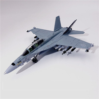 Special Offer 1:100 F/A 18 Canadian Air Force Maple Leaf Coating F18B fighter model Alloy Collection