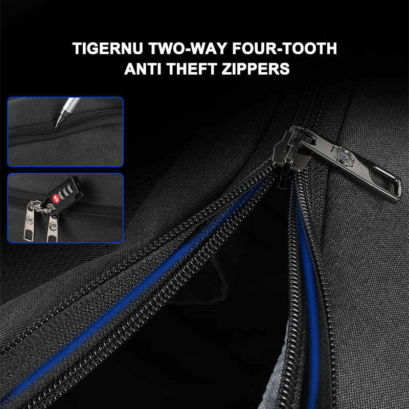 Tigernu Thiết Kế Mới Thời Trang Chống Trộm RFID 15.6 Inch Laptop Nam Dung Tích Lớn, Trọng Lượng Nhẹ Du Lịch, Có Ba Lô Túi