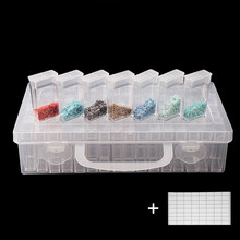 56/64pcs Plastic Diamond Painting Accessories with Bottles Container Storage Box Diamant Painting Holder Daimond painting Box(China)