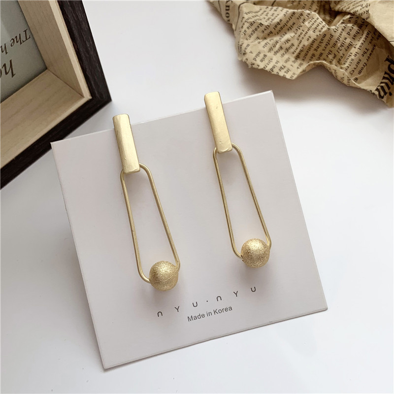 Vintage Big Metal Drop Dangle Earrings For Women Geometric Wedding Party Jewelry Gold Large Statement Earrings
