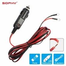 1,6 метров, Автомобильный штекер, адаптер для прикуривателя с 160 см кабелем, провод для прикуривателя