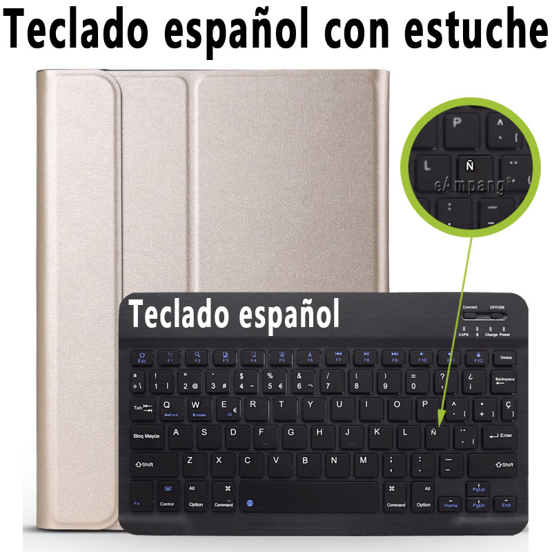 Spanish Keyboard Clear 3 0 Bluetooth Keyboard Case for iPad 10 2 Case for Apple iPad 7th Generation A2200