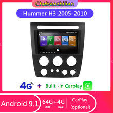 Android 9.1 Auto Gps Video Speler Navigatie Voor Hummer H3 2005-2010 Bluetooth 4G Netwerk Wifi Carplay Steering wheel Controls(China)