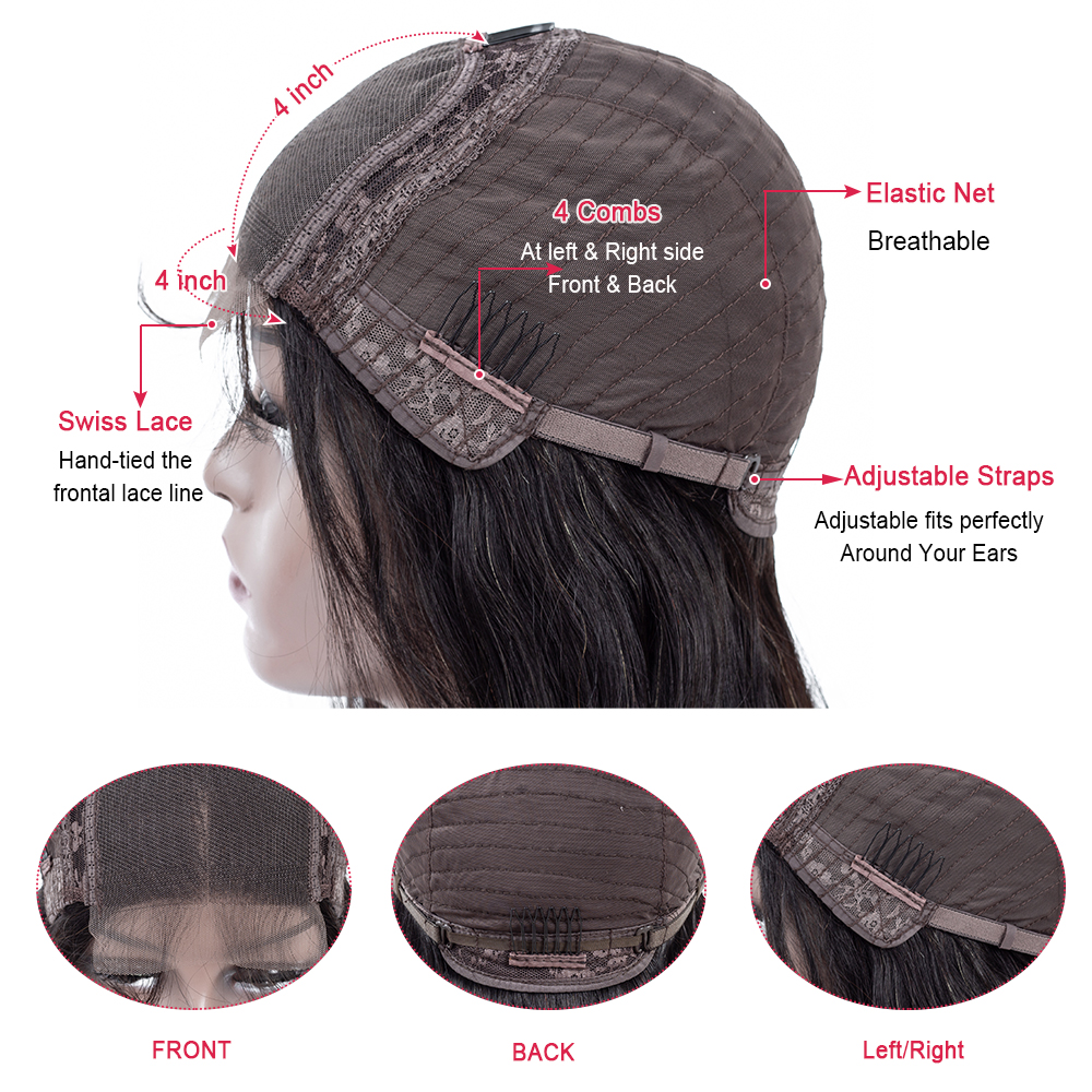 H93b11bc8cb4f49128c8c156e23480eacF Body Wave 4*4 Lace Closure Human Hair Wigs For Women Brazilian Remy Hair Wigs With Baby Hair lace closure Wigs Queen Hair