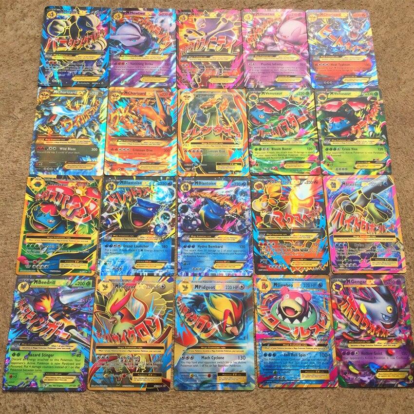 100 200 300 шт блестящая игра для GX MEGA EX карточные игрушки для тренировок Mewtwo торговая битва карт игра игрушка английская версия