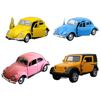1:32 Simulation Alloy Toy Cars Diecast Pull Back Pink Car Model Children Toys Off-road Vehicles Decorations Christmas Gift image