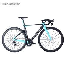 CATAZER 700C Road Bike Super Light T800 Carbon Frame Racing Road Bicycle Carbon Wheelset R8000 22