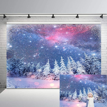 Winter Woodland Backdrop Snowflake Forest Photo Background Glitter Stars Bokeh Birthday Baby Shower Photographic Backdrops бортики в кроватку forest little stars