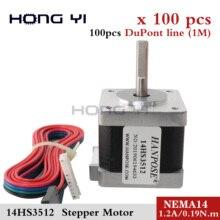 100 Uds. Motor paso a paso extrusor Titan 14HS3512 4 lead Nema14 35mm 19N.cm 1.2A 35 Motor para impresora 3D triangulación de envío