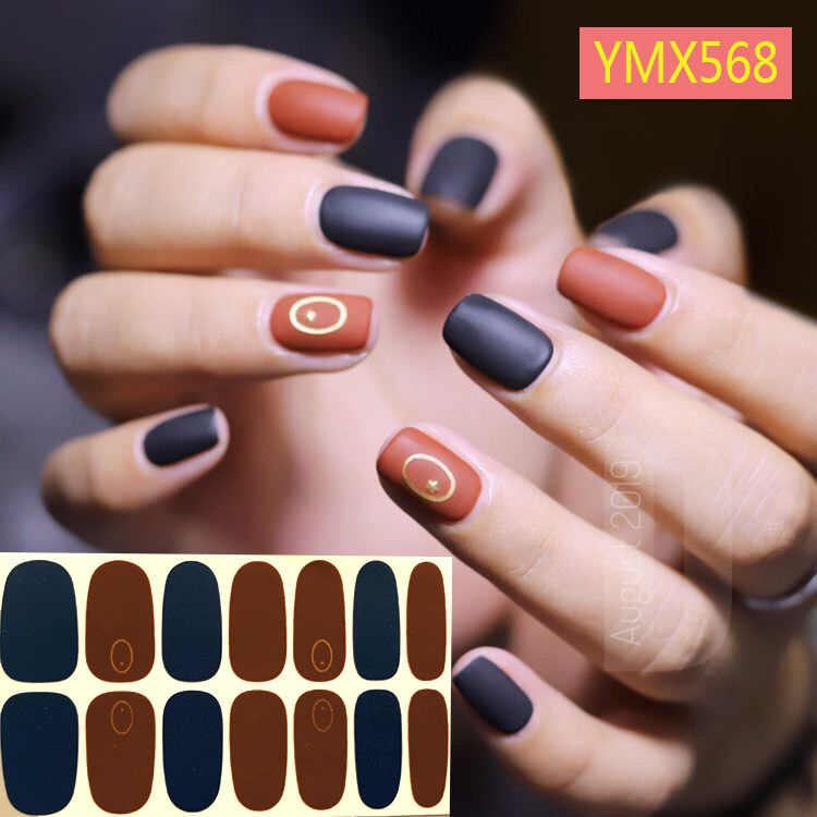 Korea Nail Sticker Volledige Cover Sticker Wraps Decoraties Diy Manicure Slider Nail Vinyls Nagels Decals Manicure Art