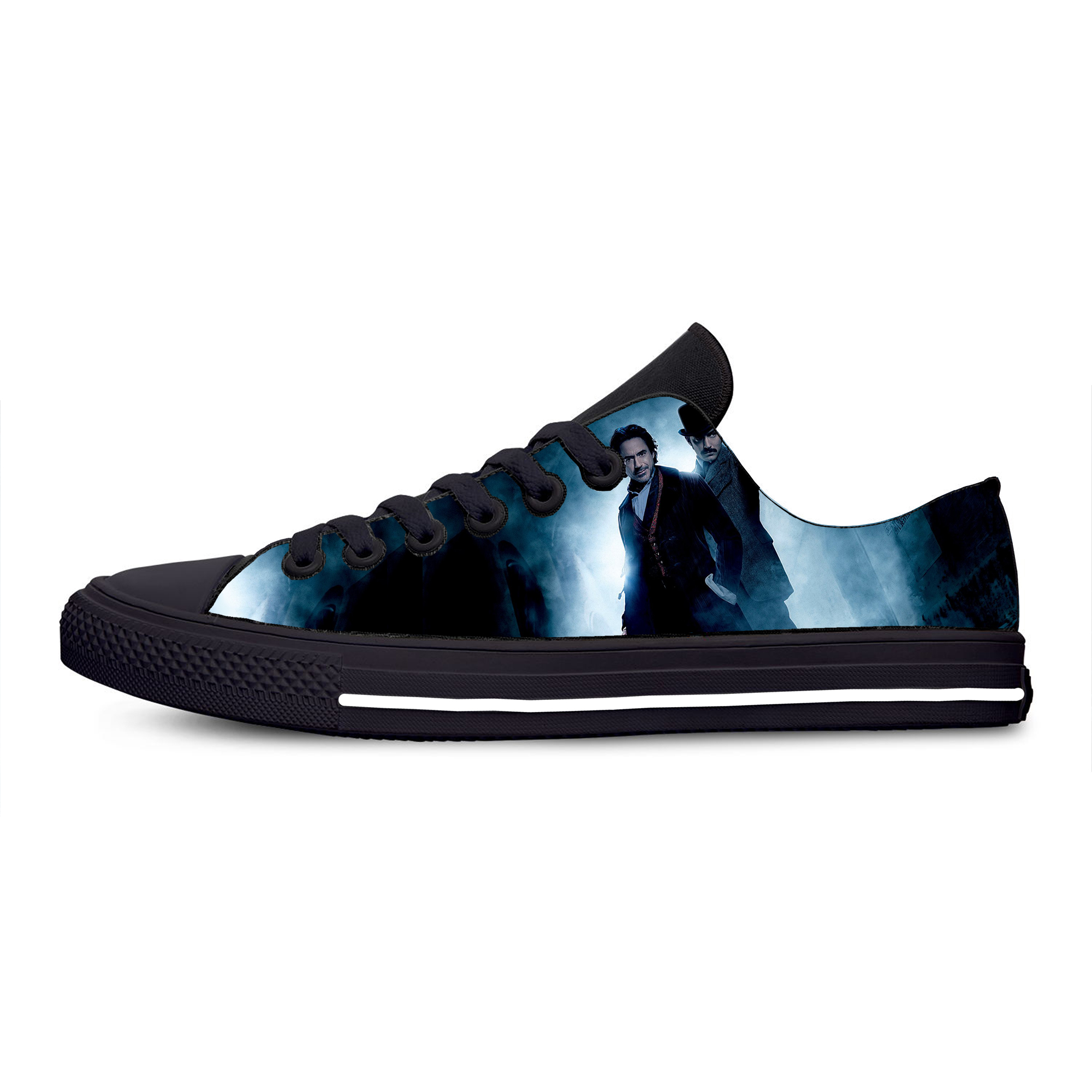 Sherlock Holmes Suspense Movie Hot Cool Fashion Casual Canvas Shoes Breathable Lightweight Sneakers 3D Print For Men Women image