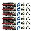 6Pcs Newest Ver009 Usb 3.0 Pci-E Riser Ver 009S Express 1X 4X 8X 16X Extender Riser Adapter Card Sata 15Pin To 6 Pin Power Cable