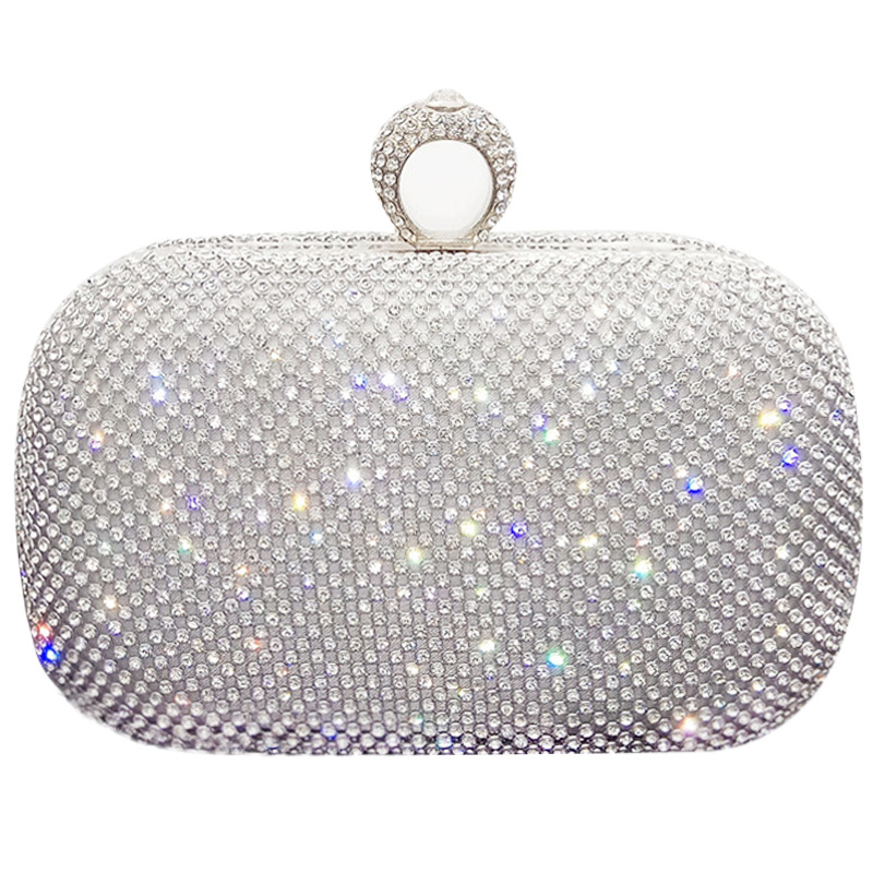 Pouch Box-Bags Rhinestone Luxury Purse Glitter Wedding-Shoulder Party Elegant Female