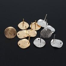 Findings Earring-Base Jewelry Make-Accessory DIY Gold Circle Eardrop Irregular 10pcs