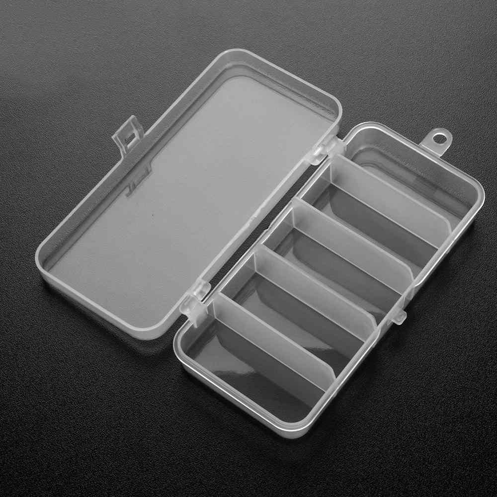 Caja de almacenamiento de 6/10/12 compartimentos de plástico, cuchara de señuelo de pesca, anzuelo, aparejos, caja de accesorios pequeños, caja cuadrada de anzuelo
