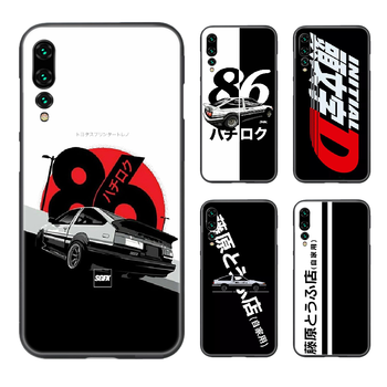 Initial D AE 86 Sports car Phone Case Cover Hull For Huawei P8 P9 P10 P20 P30 P40 Lite Pro Plus smart Z 2019 black hoesjes trend image
