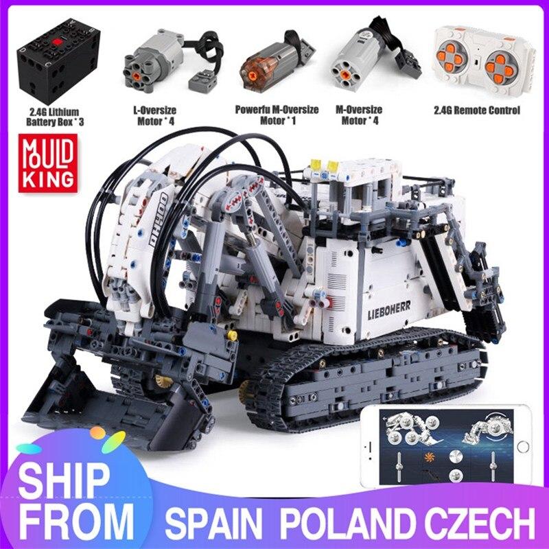 Mould King – pelle minière R9800 Terex RH400, blocs de construction, modèle high-tech, jouets pour enfants, cadeau
