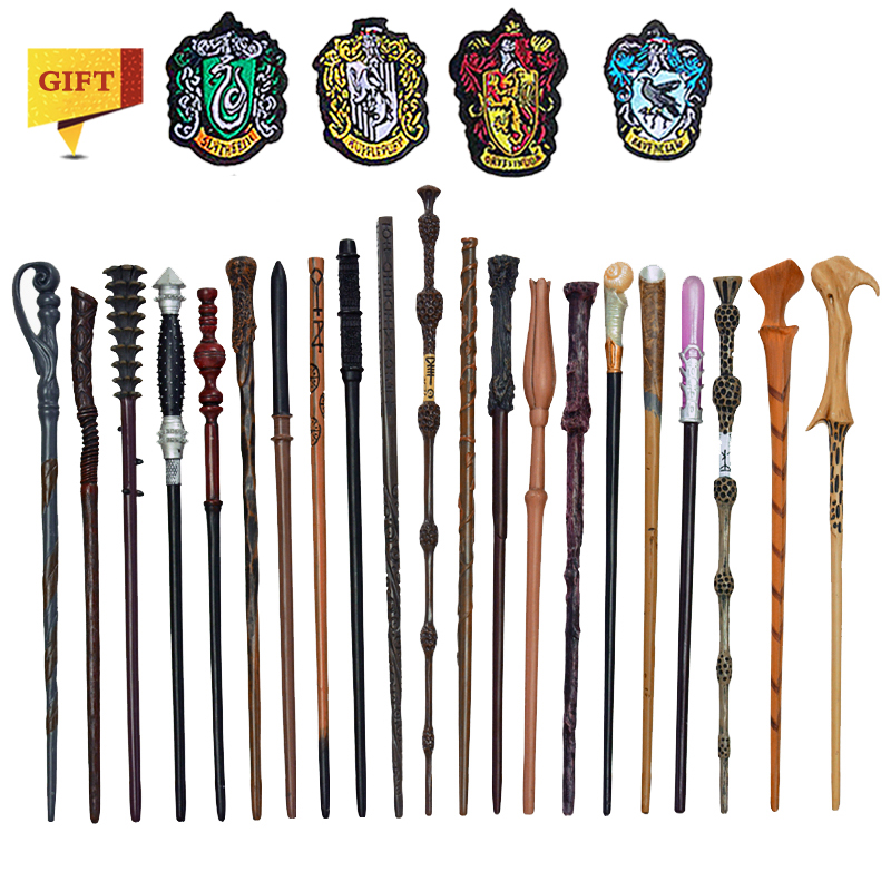 27 Kinds Of Metal Core Potters Magic Wands Cosplay Voldemort Hermione Magical Wand 4 Piece Woven Label As Bonus Without Box
