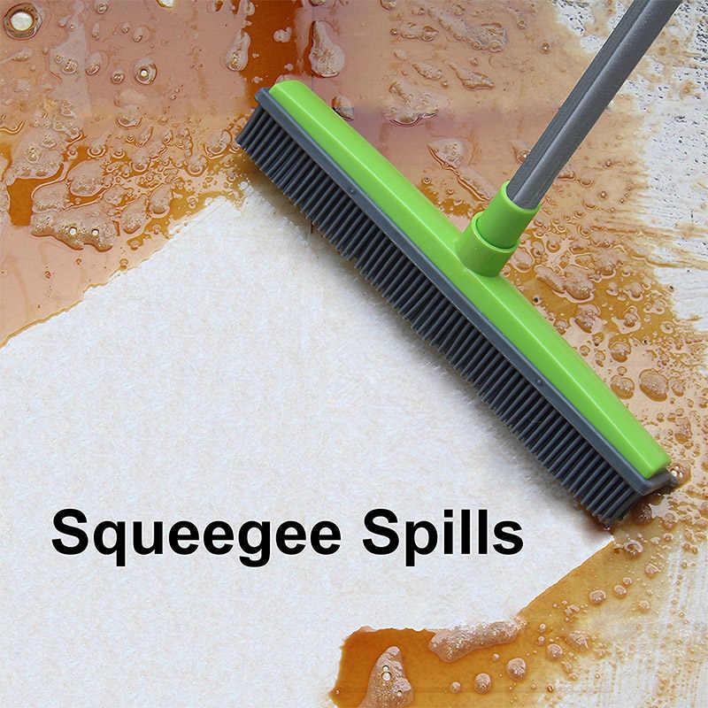 เวทมนตร์ผมไม้กวาดฝุ่นScraper & สัตว์เลี้ยงแปรงทำความสะอาดพรมกวาดไม่มีHand Wash Mopทำความสะอาดเช็ดTelescopicเครื่องมือ